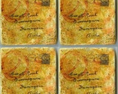 Stone Drink Coaster set of four POSTCARDS FROM THE EDGE