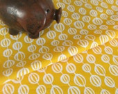 Seed Pod Fat Quarter in yellow on organic cotton