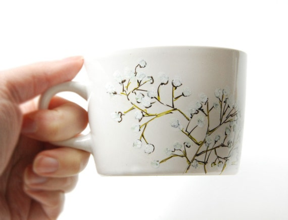 small floral teacup - Babys Breath