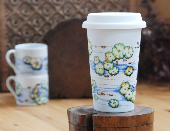ceramic eco friendly travel mug - Jelly Hills