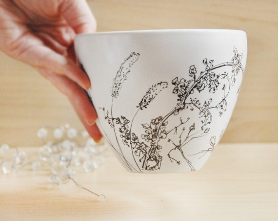 Noodle Bowl - Wild Grass, Drawing Collection - made to order