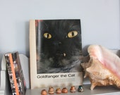 GoldFanger the Cat, vintage Magazine story from the 1960s, home decor, cat lover, cat lady