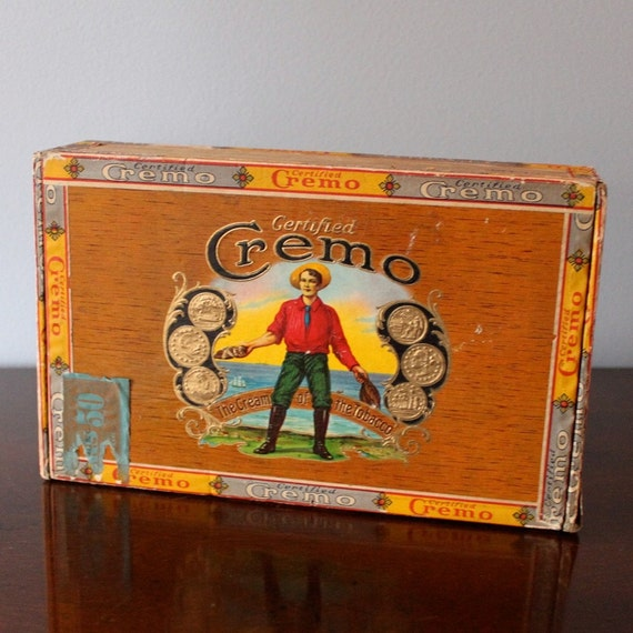 Vintage Cigar Box, Certified Cremo, with price sticker