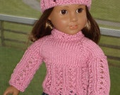 Candy - Top/Cardigan and Hat set - American Girl doll knit PATTERN