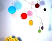 Glass Mobile - Circles - approx 3feet