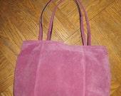 Pink Suede Handbag