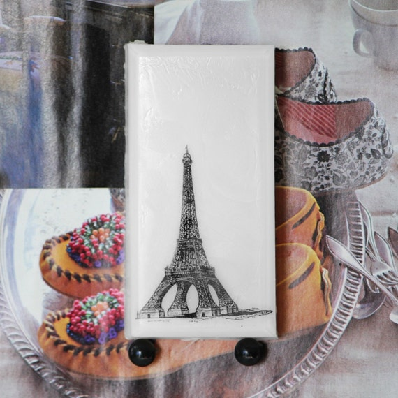 Eiffel Tower Soap Black and White Art Series