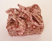 red geometric furoshiki