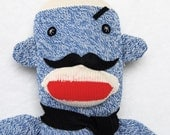 Ready to Ship Gift for Men Mischievous Mustache Monkey Plush Sock Monkey Stuffed Doll Toy for Children or Adult