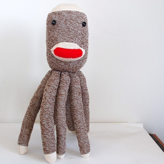 Socktopus Plush Sock Monkey Octopus
