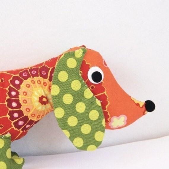 Plush Wiener Dog Dachshund CHET