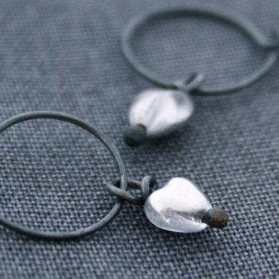 Silver Heart. Earrings.