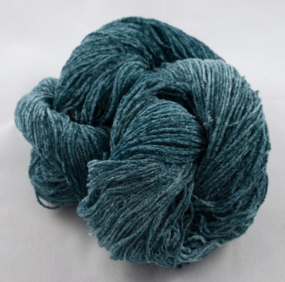 TEAL Handpainted 2000 ypp Rayon Chenille Yarn