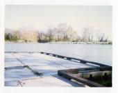 Fine Art Print- Dock Polaroid Handmade Certified