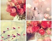 Home Decor Photo Sets Bokeh & Roses 4 8x8 Prints Handmade Certified