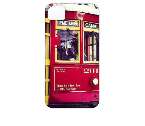 Custom iPhone 4 Case Photography: New Orleans Trolley