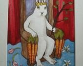 The Rabbit Tarot - Original Art - The Emperor