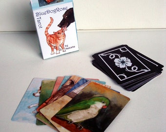 The BlueDogRose Tarot - 78 Card Animal Tarot Deck by Nakisha