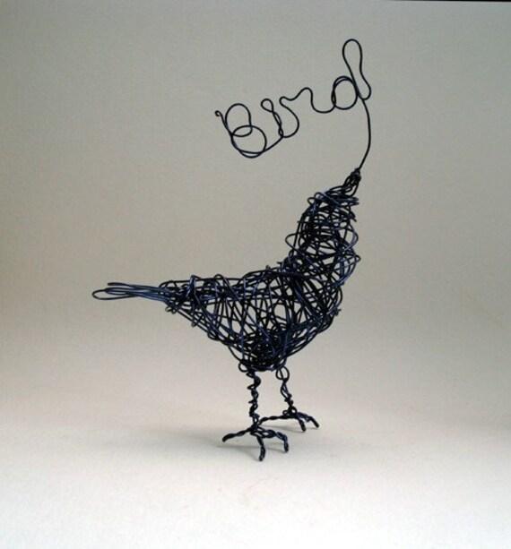 Bird is the Word- Wire Bird Sculpture