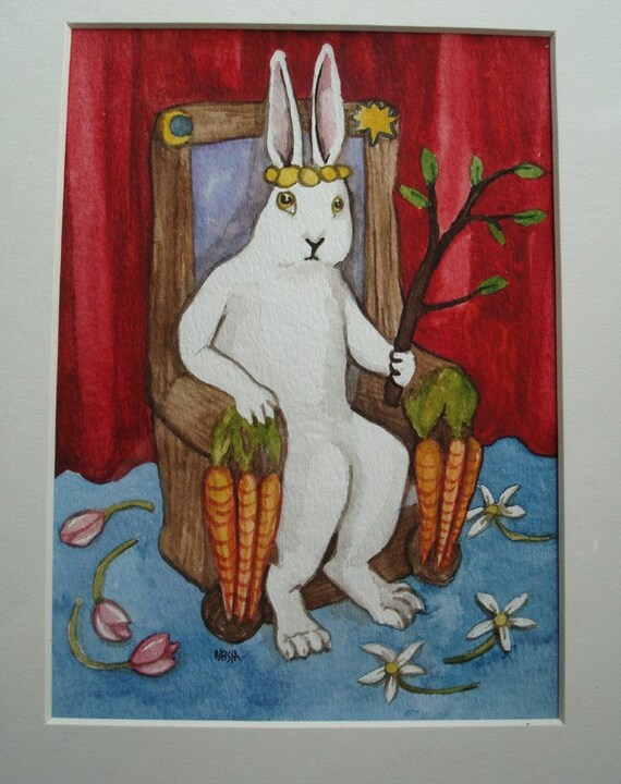 The Rabbit Tarot - Original Art - The Emperor