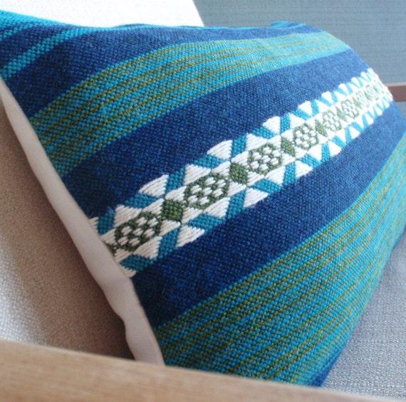 Vintage Danish Modern Woven Textile Pillow Cover