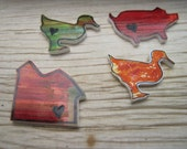 SALE Mini Farm Abstract Magnet set with Altoids Tin super strong