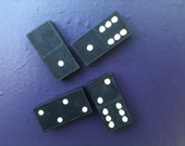 SALE Domino Black Strong Magnets set of 6 (52b)