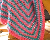 Baby Blanket Crochet Pattern PDF, Carnival Baby Afghan Pattern, Striped Baby Blanket, Sell What You Make