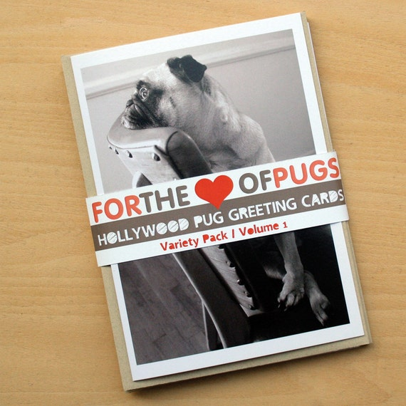 Pug Greeting Card Variety Pack Vol. 1
