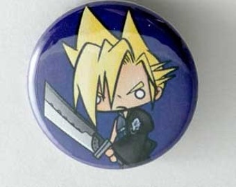 Final Fantasy VII - Cloud Button