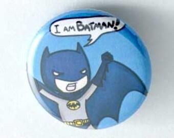 Cute chibi Batman Button