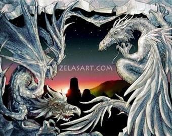 Dragon's Gate- original art print