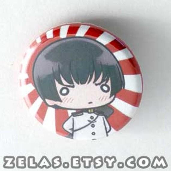 Chibi Anime Button: Hetalia - Japan