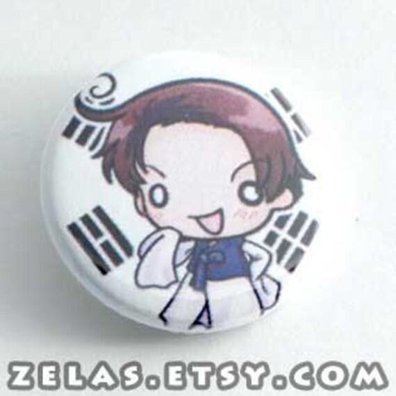 Chibi Anime Button: Hetalia - Korea