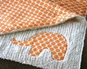 Cuddley Chenille Elephant Blanket