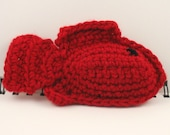 SALE - Crocheted Plush Fish in Red