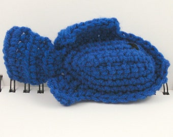 SALE - Crocheted Plush Fish in Blue