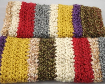 Multi-Colored Striped Crocheted Arm Warmers (size M-L) (SWG-AW-MH01)