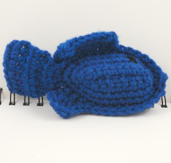 SALE - Crocheted Plush Fish in Blue