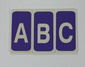 Wood Alphabet Flashcards Lavender Set of 26 Upper Case Letters