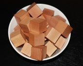 Small Bag of 15 Blocks 2 inch natural wood blocks Beeswax