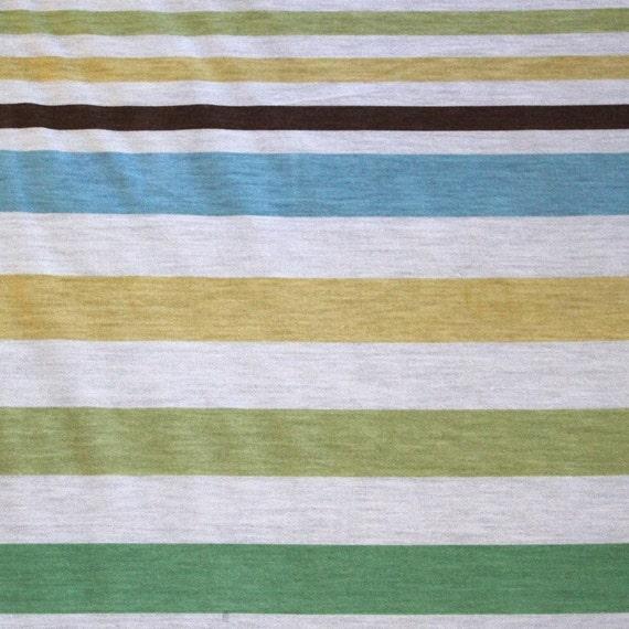STRETCH COTTON stripe fabric