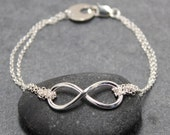 DOUBLE INFINITY anklet, 925, sterling, silver