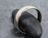 ROUND 14K white gold palladium 6mm ring band