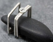 INITIAL Square Ring Band TRIO