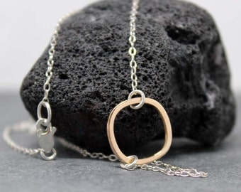 MODERN Round Square necklace