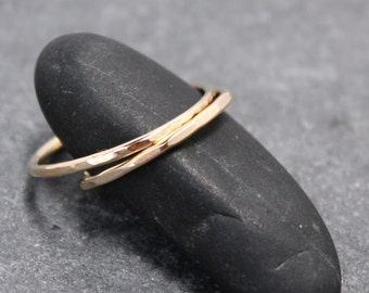 14K Solid Gold 1.4mm STACKABLE RING band