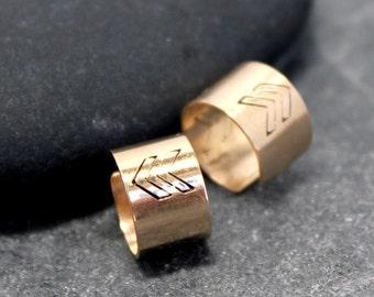 14K Gold Filled 5mm CHEVRON Cartilage Ear Cuff Band Wrap