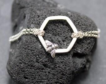 BEE MINE Double Bracelet,Sterling Silver