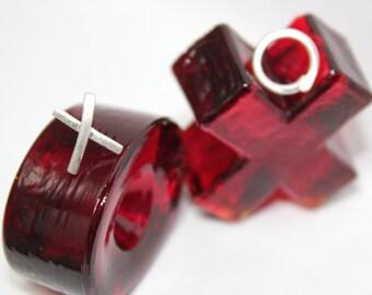 XOXO stud post earrings,love,hug,kiss,Valentine's day